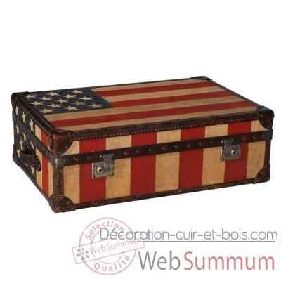 Malle watson en tissu avec drapeau am ricain h 300 x 890 x 590 arteinmotion - Malle drapeau anglais ...