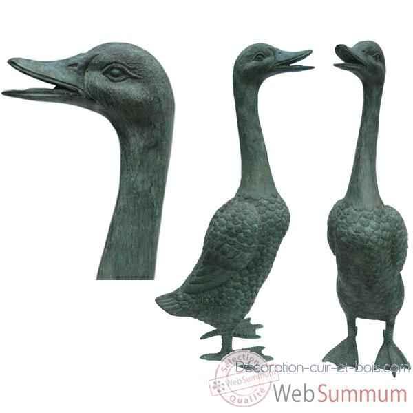 Canard en bronze brz190 dans animaux de la ferme sur for Canard de decoration