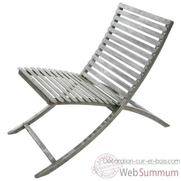 Chaise m tal jardin couleur orange hindigo je12ora de for Chaise metal couleur