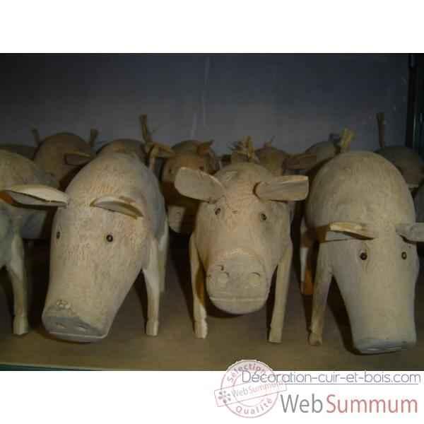 Achat de cochon sur d coration cuir et bois for Achat de decoration