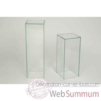 colonne marais en verre 25x25x80 cp2 de marais international de meuble design marais. Black Bedroom Furniture Sets. Home Design Ideas
