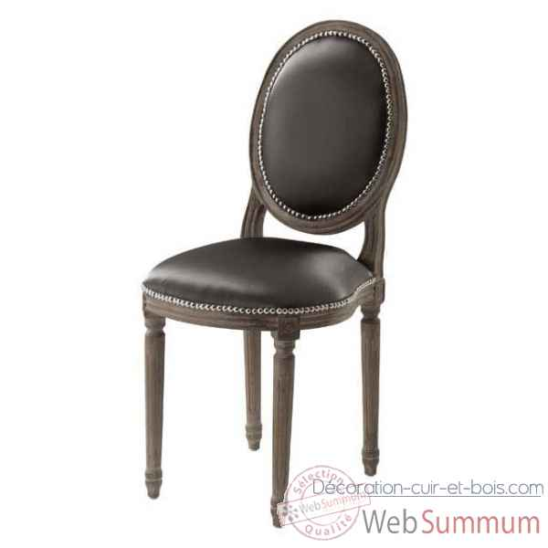 eichholtz chaise baroque gris dans fauteuil canap sur d coration cuir et bois. Black Bedroom Furniture Sets. Home Design Ideas
