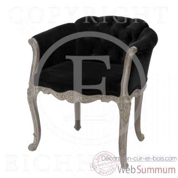 eichholtz fauteuil club carlton velours noir et rustique dans fauteuil canap. Black Bedroom Furniture Sets. Home Design Ideas