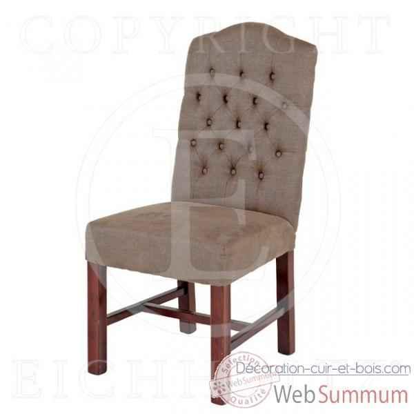 eichholtz fauteuil rosevelt lin gris chr05080 de decoration acier cuir bois. Black Bedroom Furniture Sets. Home Design Ideas