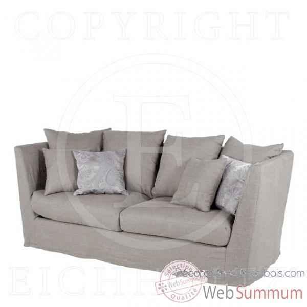 eichholtz sofa ashton lin gris dans fauteuil canap sur d coration cuir et bois. Black Bedroom Furniture Sets. Home Design Ideas