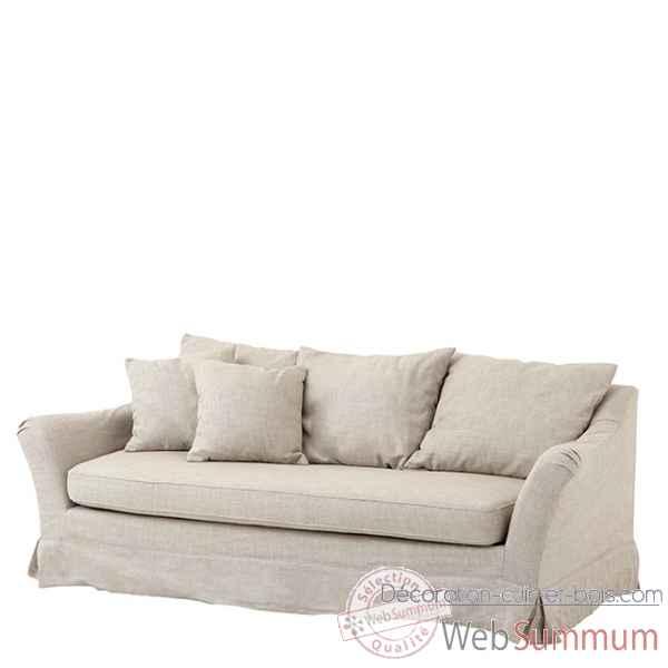 sofa montgomery eichholtz 06898 dans fauteuil canap sur d coration cuir et bois. Black Bedroom Furniture Sets. Home Design Ideas