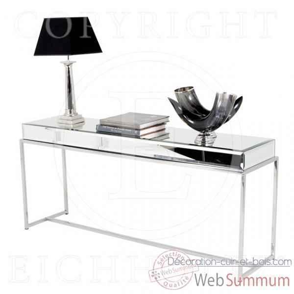 achat de console sur d coration cuir et bois. Black Bedroom Furniture Sets. Home Design Ideas