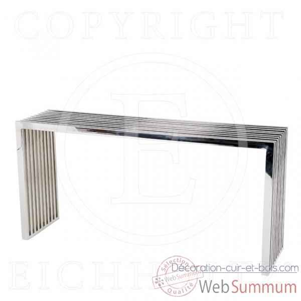 eichholtz table console sullivan aluminium et verre de. Black Bedroom Furniture Sets. Home Design Ideas