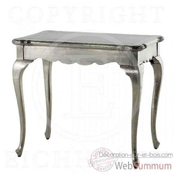eichholtz table console julius argent dans table bureau sur d coration cuir et bois. Black Bedroom Furniture Sets. Home Design Ideas