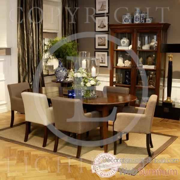 eichholtz table manger provence ch ne tbl01570 de decoration acier cuir bois. Black Bedroom Furniture Sets. Home Design Ideas