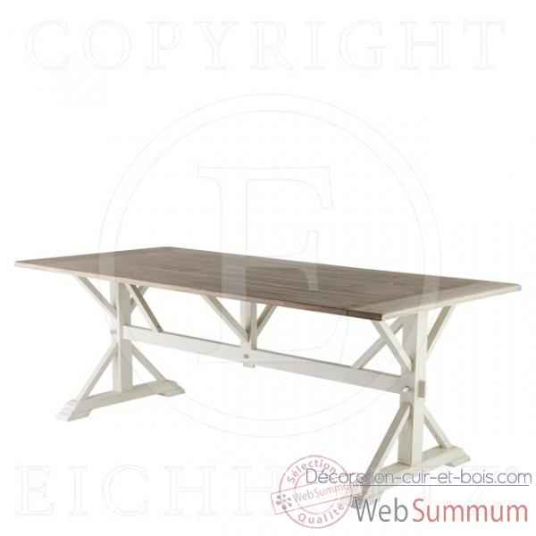 Eichholtz table manger royal ch ne rustique et blanc de for Table a manger bois et blanc