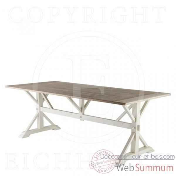 Eichholtz table manger royal ch ne rustique et blanc de for Table a manger bois et blanc