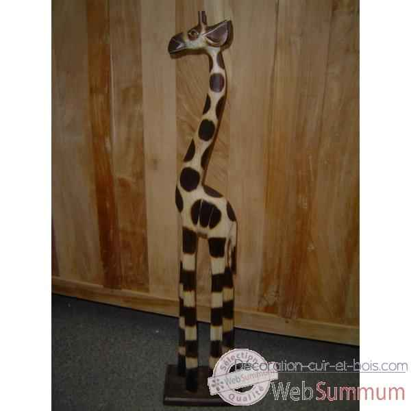 girafe en bois animaux bois taille 4 lcdm022 photos d coration cuir et bois de animaux bois. Black Bedroom Furniture Sets. Home Design Ideas