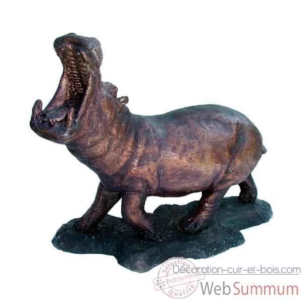 Hippopotame en bronze brz1213 dans animaux sauvages sur for Objet decoration hippopotame