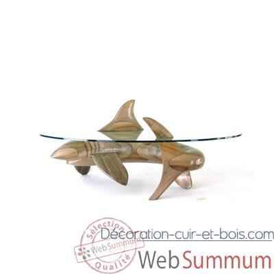 Le requin en bois de rauli 105 cm x 42 cm x 43 cm last for Requin decoration