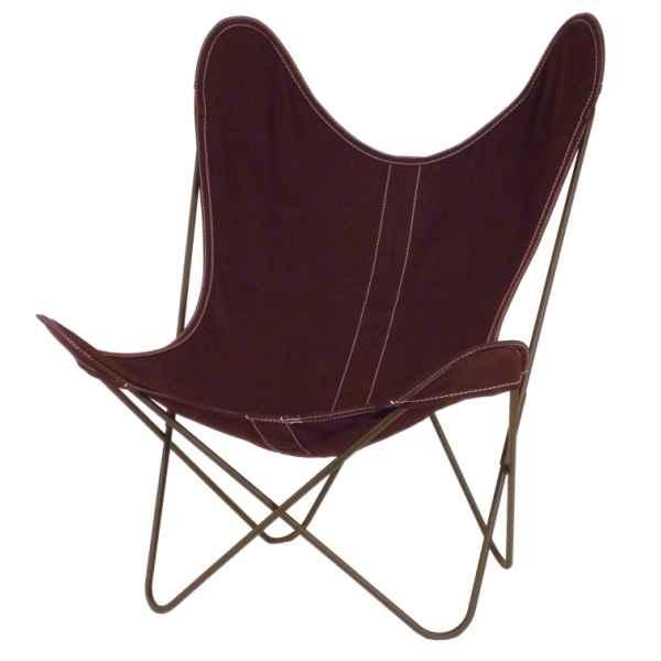 aa new design de aa new design dans fauteuil butterfly en cuir de decoration cuir j. Black Bedroom Furniture Sets. Home Design Ideas