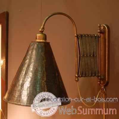 appliques dans luminaire sur d coration cuir et bois. Black Bedroom Furniture Sets. Home Design Ideas