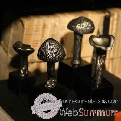 champignons en aluminium objet de curiosit dl074 de vase coupe d coration atypique. Black Bedroom Furniture Sets. Home Design Ideas