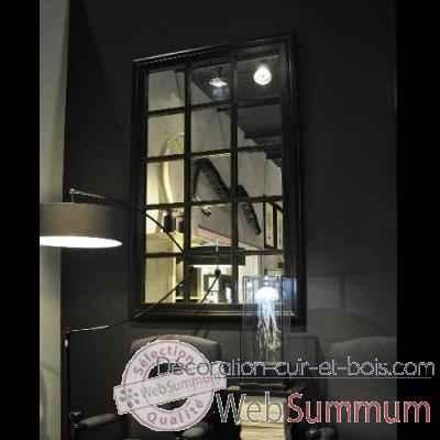 Achat de miroirs sur d coration cuir et bois for Miroir quadrille mural