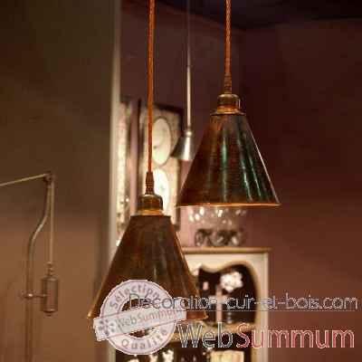 suspension en cuivre martel objet de curiosit lu063. Black Bedroom Furniture Sets. Home Design Ideas