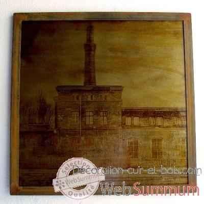 Achat de industrielle sur d coration cuir et bois - Tableau deco industrielle ...