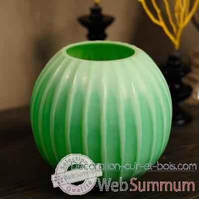 vase cactus vert objet de curiosit dans vases et coupes sur d coration cuir et bois. Black Bedroom Furniture Sets. Home Design Ideas