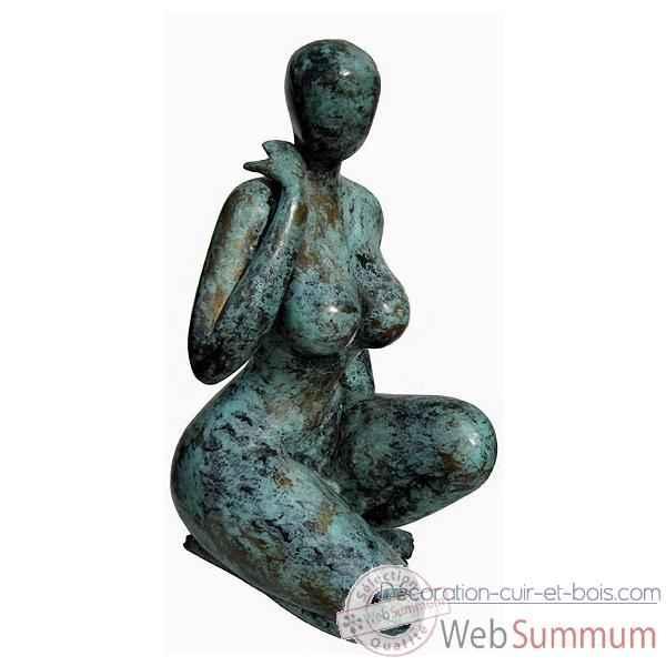 statuette femme contemporaine en bronze brz1127 de statuettes bronze cuir bois. Black Bedroom Furniture Sets. Home Design Ideas