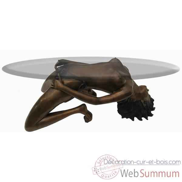 Table basse l phants en bronze brz354 dans table basse sur d coration cuir - Table basse en cuir et verre ...