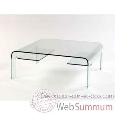 table basse marais pont carr e en verre bomb de meuble. Black Bedroom Furniture Sets. Home Design Ideas