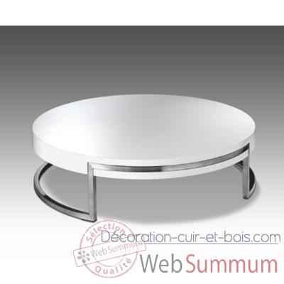 Table basse ronde marais avec plateau bois dans table for Table de salon ronde design