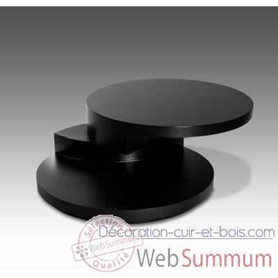 table basse ronde marais avec plateau bois dans table basse design marais cuir bois. Black Bedroom Furniture Sets. Home Design Ideas