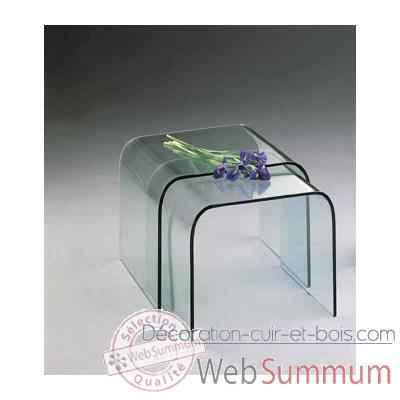 Table gigogne marais en verre bomb de marais - Table de chevet en verre ...