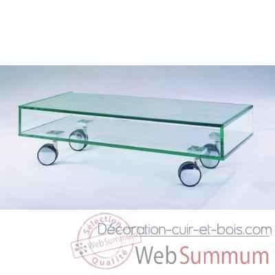 Table t l 90x40x25 marais pour cran plat en verre tremp for Table pour televiseur ecran plat