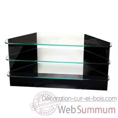 Table t l marais en verre tremp de meuble for Table tele en verre