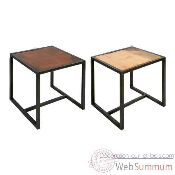 tabouret set de 4 bois teint e acajou hindigo je52maho de d coration m tal. Black Bedroom Furniture Sets. Home Design Ideas