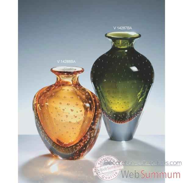 vase en verre formia couleur verte v14287ba de d coration verre de murano formia. Black Bedroom Furniture Sets. Home Design Ideas