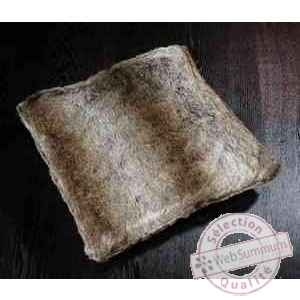 Coussin silver fox en fourrure synthetique couleur renard argente 450 x 450 arteinmotion CUS-FOX0004