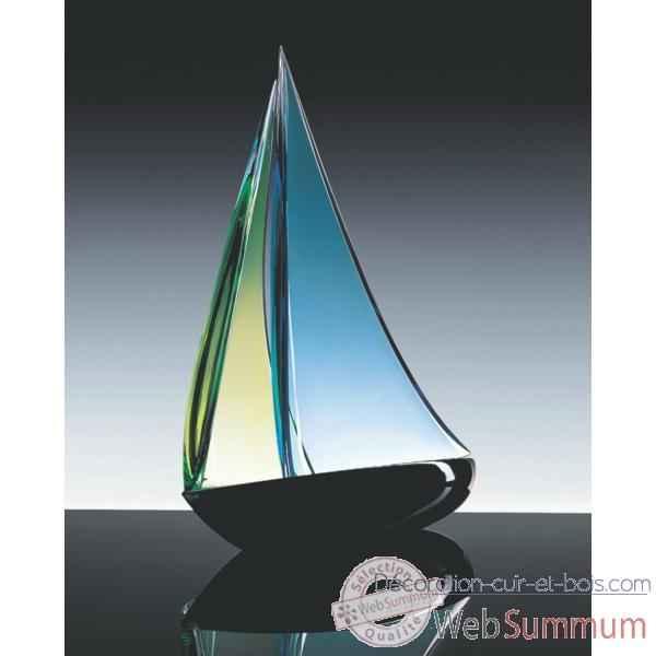 bateau voile en verre formia v46914 de d coration verre de murano formia. Black Bedroom Furniture Sets. Home Design Ideas