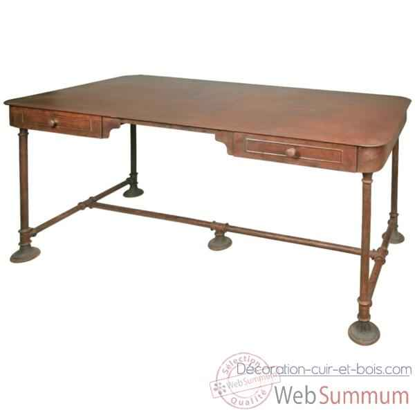 Bureau Metal finition rouille Hindigo -JE65RUST