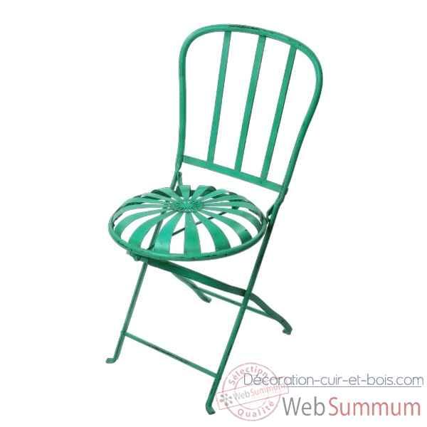 Chaise Pliante Metal Couleur Blanc Hindigo JC73WHI