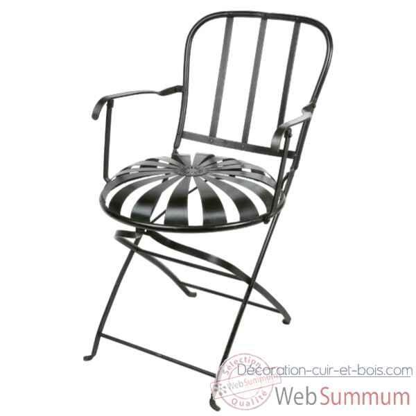 Chaise Pliante Metal Blanche Hindigo JD23WHI