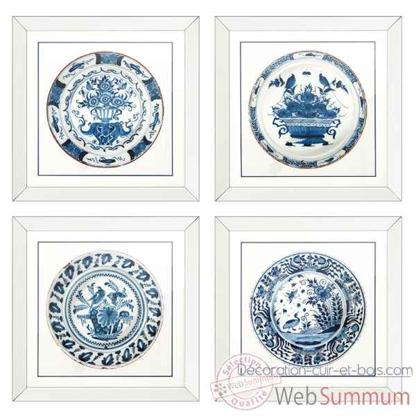 Cadre imperial china set de 4 Eichholtz -08259