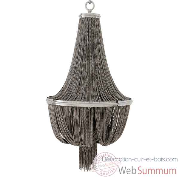 Chandelier martinez nickel large Eichholtz -LIG07365