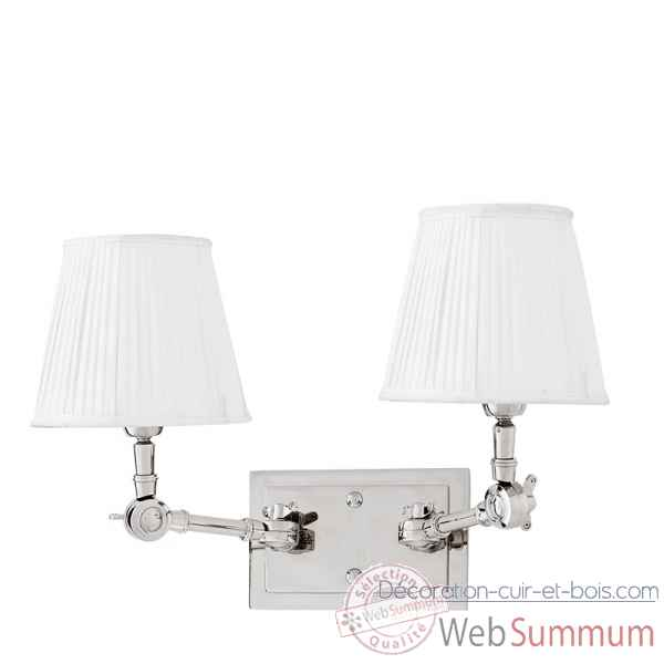 Lampe double wentworth nickel et blanc Eichholtz -LIG07223