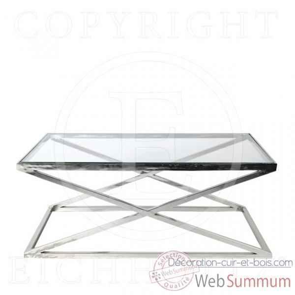 Avec Tbl01407 Eichholtz Criss Verre Inoxydable Table Basse Cross Acier 1Jlc3KFT