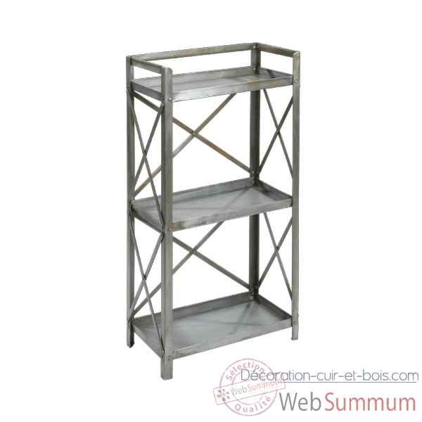 Etagere Metal 3 tables nickel Hindigo -JC75NICK