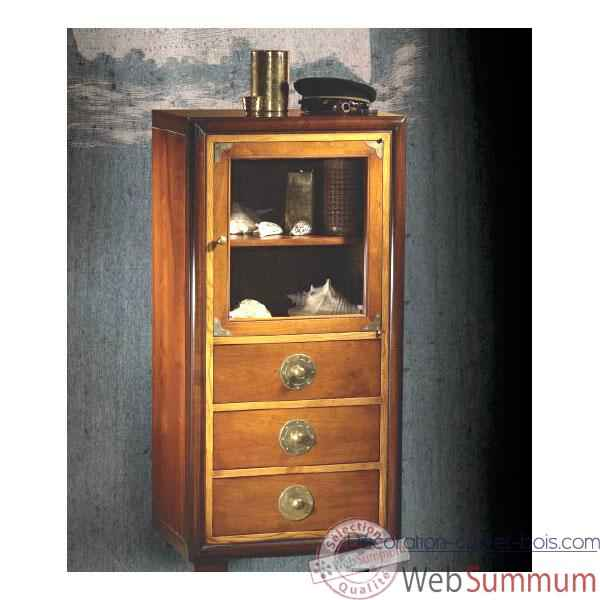 Meuble Royal Navy, epoque 19eme,  66,5 x 129 x 50 cm - RN-600