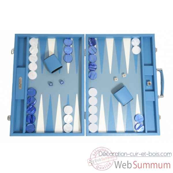 Backgammon baptiste cuir buffle competition limoges -B652-l