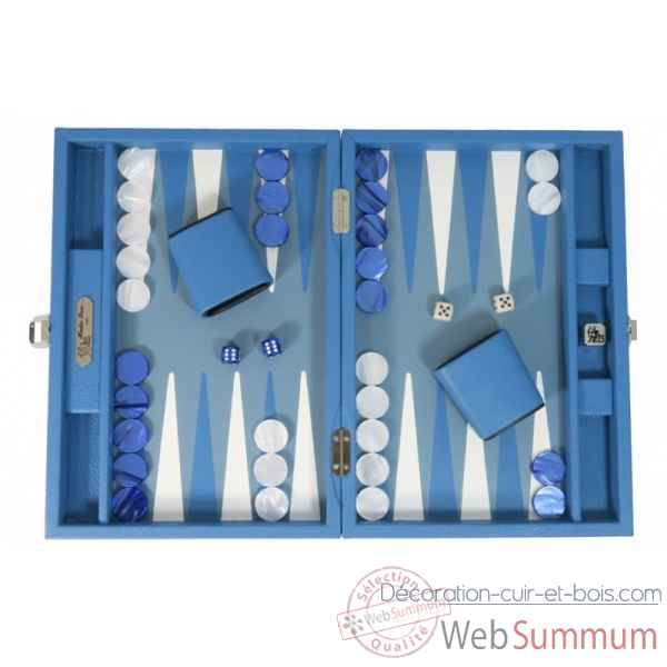 Backgammon baptiste cuir buffle medium limoges -B52L-l
