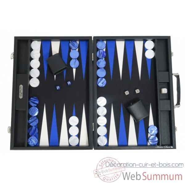 Backgammon basile toile buffle competition noir -B620-n